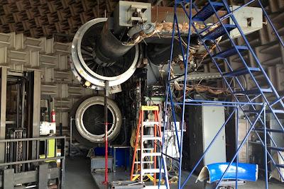 A jet fan test rig at NASA Glenn Research Center