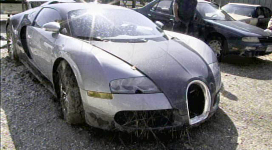 Vehículos abandonados: Bugatti