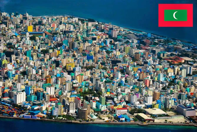 Maldives - smallest country ranked 10th