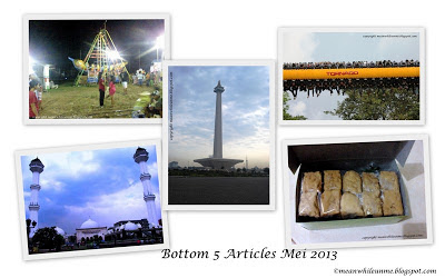 Bottom 5 Articles Mei 2013 blog meanwhileunme.blogspot.com