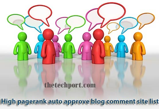 High Page Rank Auto Approve Comment Blog List