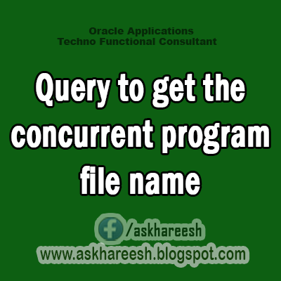 Query to get the concurrent program file name