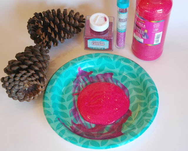 Pink Pinecone Ornament Christmas Craft For Kids