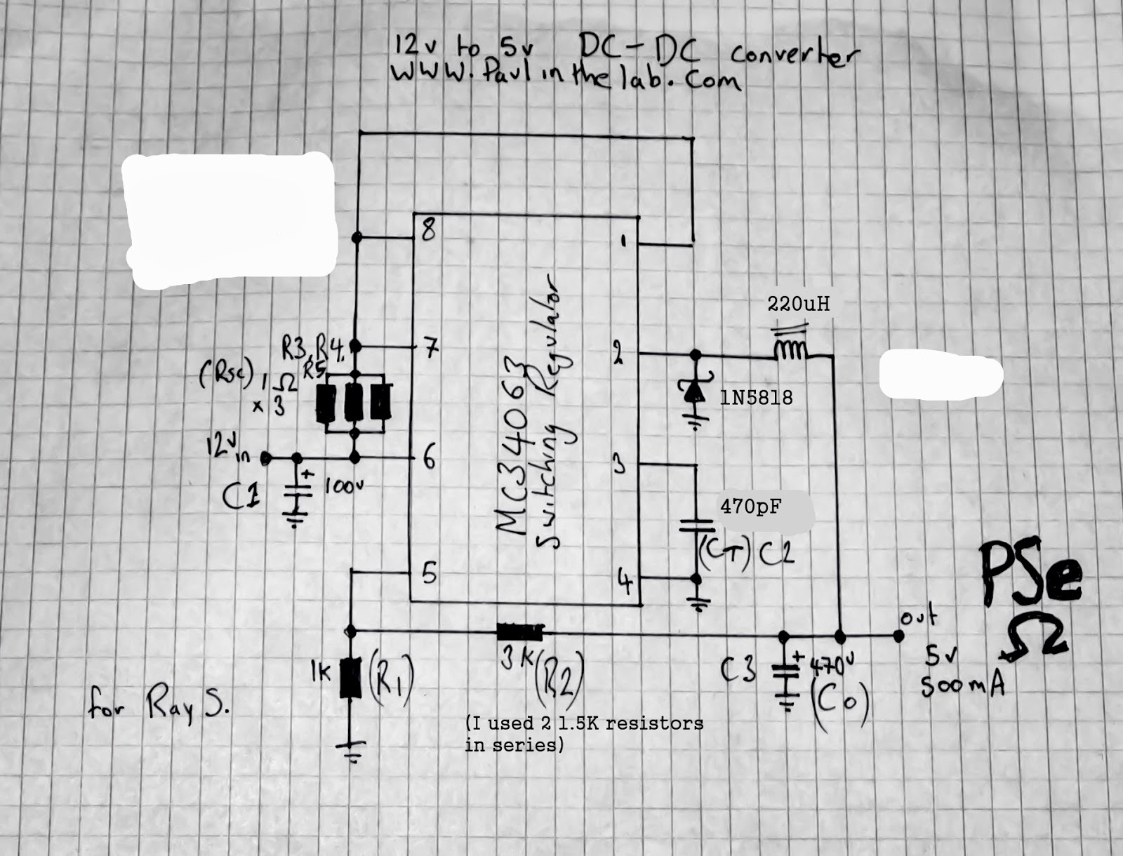 Paul In The Lab Voltage Regulator 12v 15a For Battery By Mc34063
