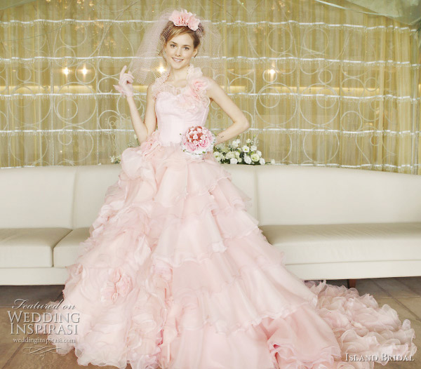 Pink Wedding Dresses: A Wedding Addict: Light Pink Wedding Dress In Modest Style