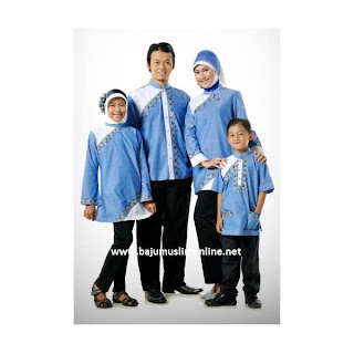 Model Baju Muslim Lebaran Keluarga