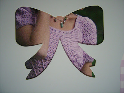 violet hand-knitted dress