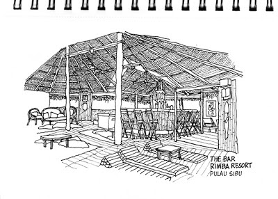 The bar - Rimba Resort, Pulau Sibu
