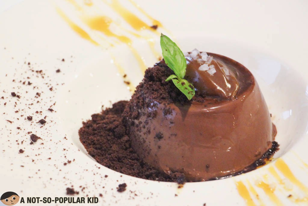 Pure chocolate goodness -- Dark Chocolate Panna Cotta of Il Ponticello