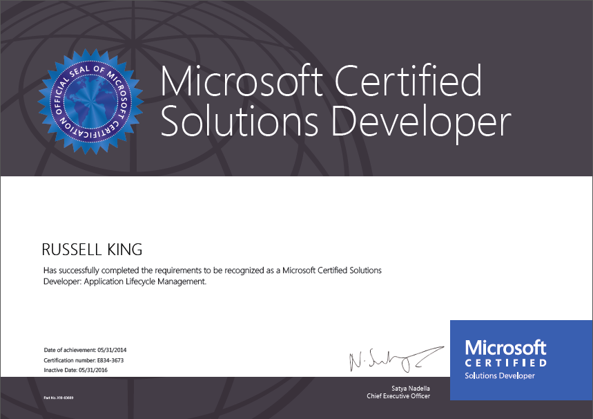 Manageable Bytes Just Passed Microsoft Mcsd Certification In Alm By