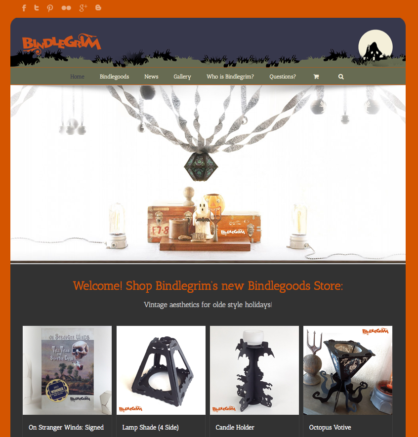 Online storre by Bindlegrim sells vintage-style Halloween holiday decorations