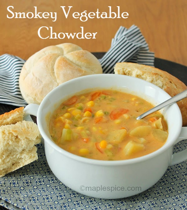 Smokey Sweetcorn Chowder - vegan recipe