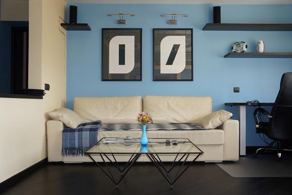фото синей кухни