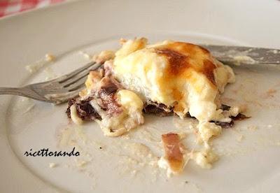 Pasticcio di radicchio e provola, lasagne vegetariane ricetta primi gratinata a forno