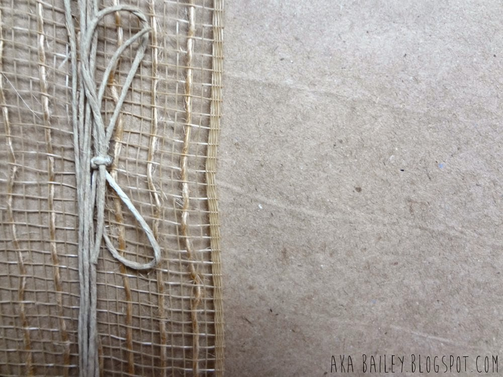 Brown paper gift wrap with burlap and hemp twine