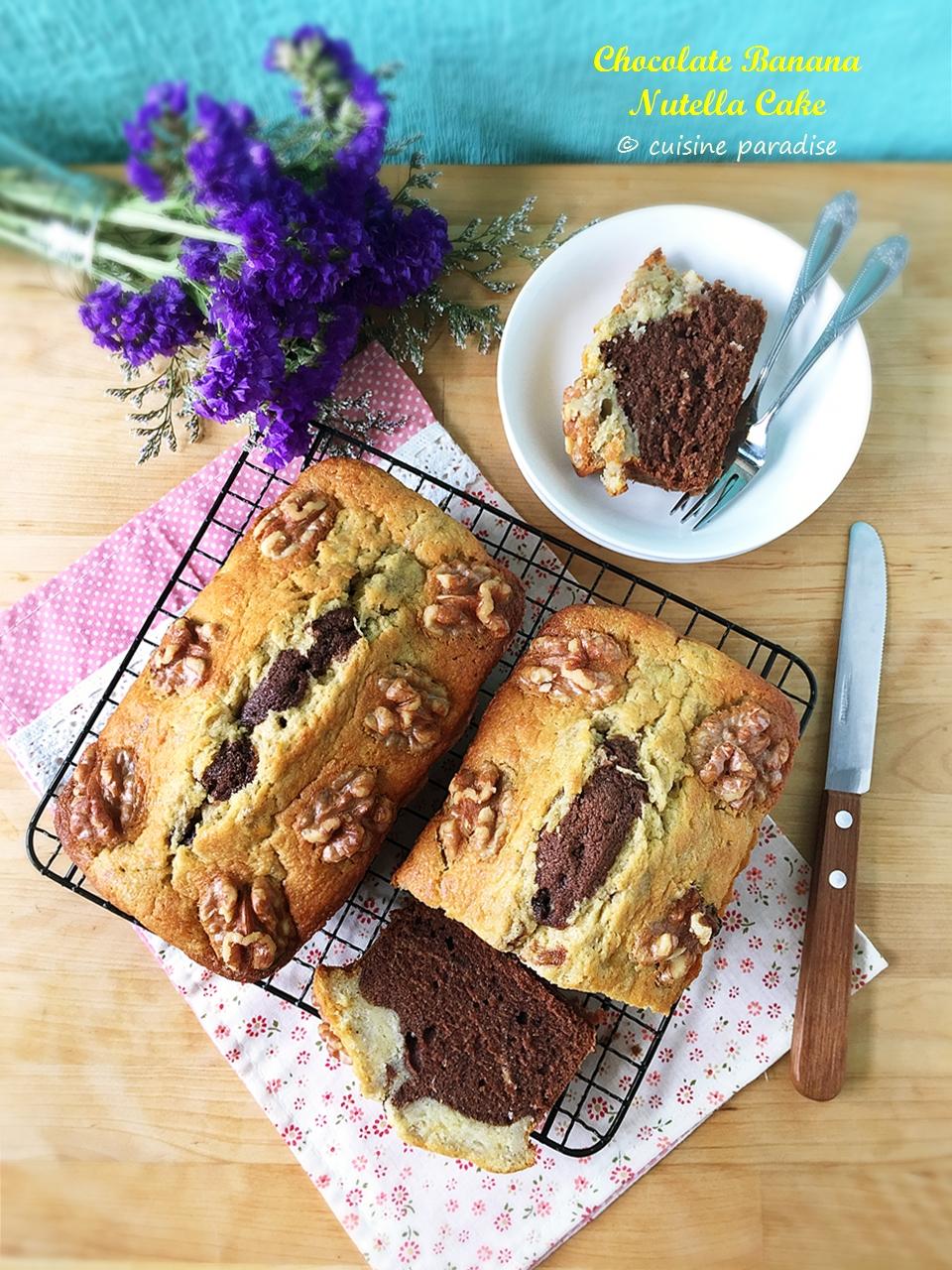 Cuisine paradise singapore food blog recipes reviews and travel chocolate banana nutella cake forumfinder Choice Image