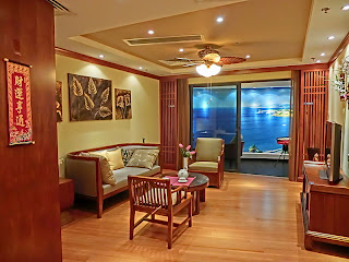 Photograph of show apartment in Hong Kong