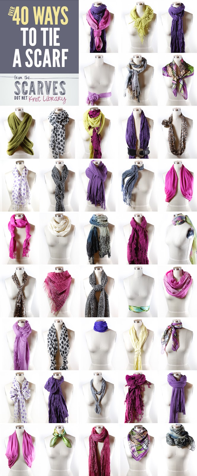 Thanks I Made It 40 Ways To Tie A Scarf