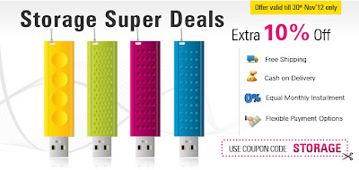 Get 10% Extra off on Storage Devices - Indiatimes Coupon Codes