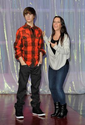 Justin Bieber com sua mãe