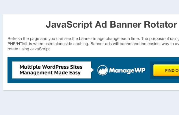 How To Build a Custom Ad Banner Rotator Script with jQuery