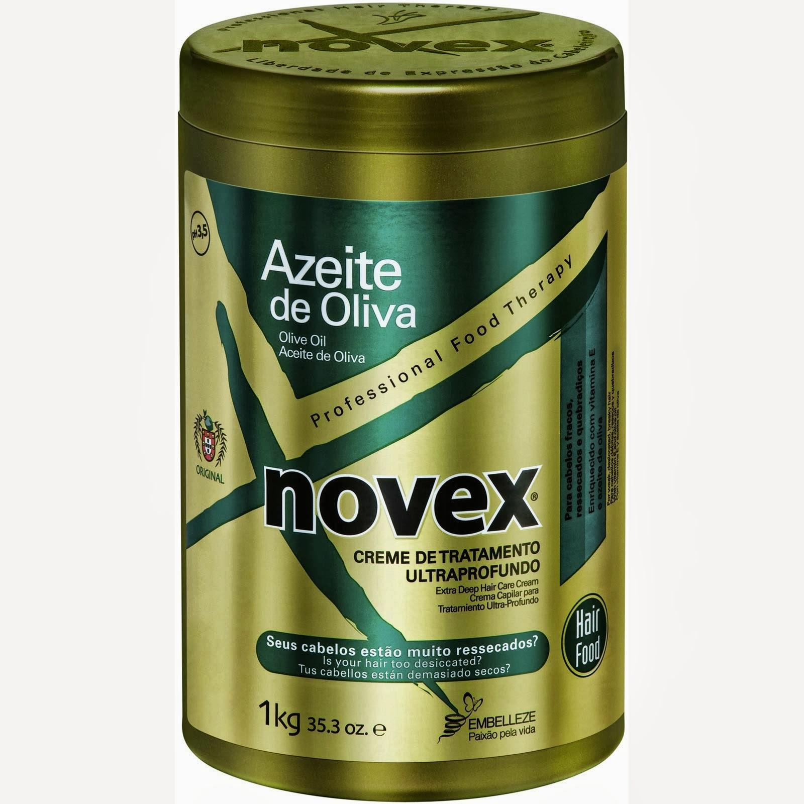 Novex Azeite de Oliva Cronograma Capilar Novex Azeite de Oliva