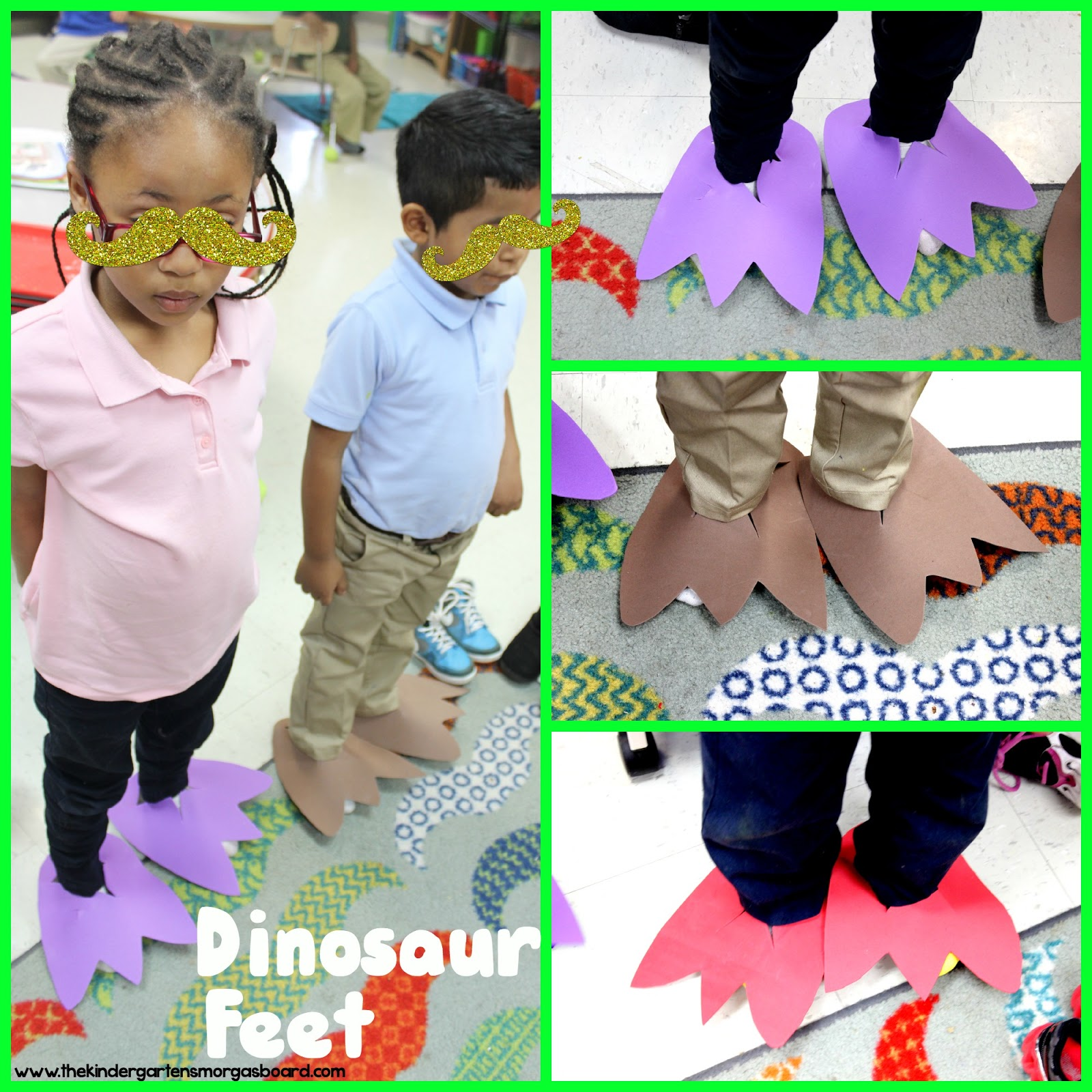 To Make The Stride And We Will Measure Our Strides Compare Those T Rex Then Own Dinosaur Feet Using Craft Foam