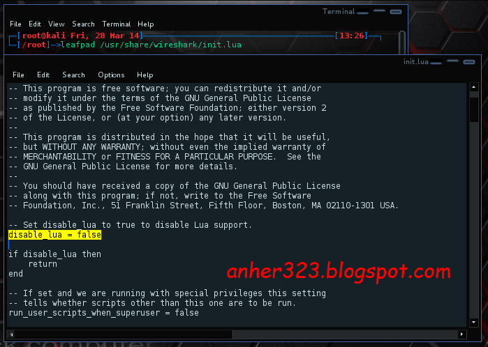 leafpad /usr/share/wireshark/init.lua