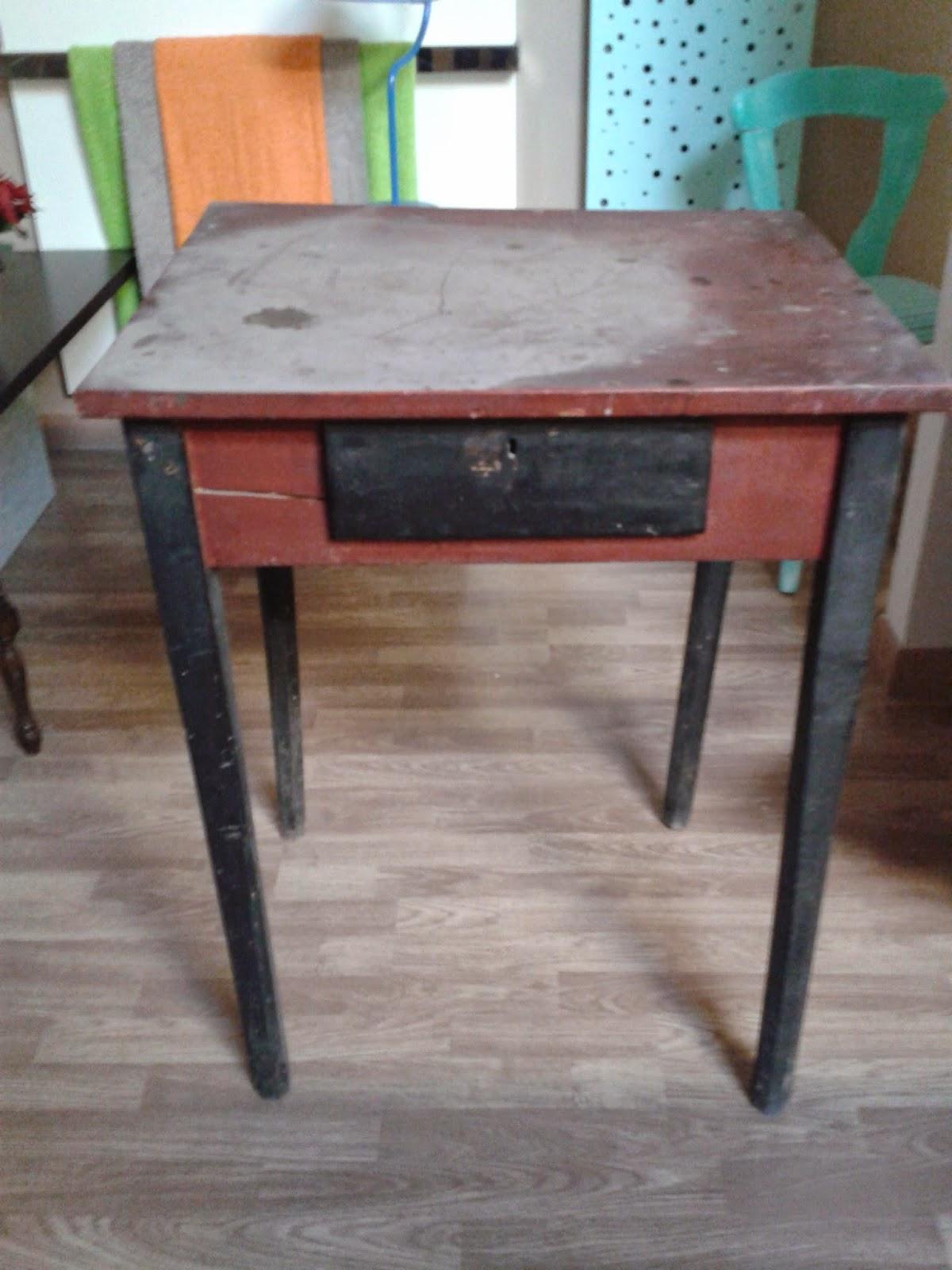 Taller de restauraci n lila mesa peque a - Como restaurar una mesa de madera ...