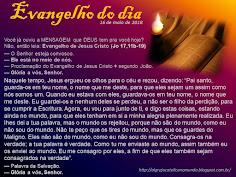 EVANGELHO DO DIA - MAIO 2018