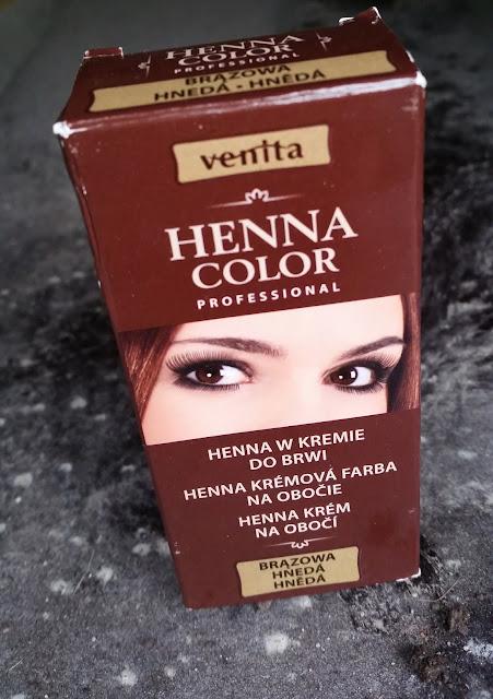 Przyciemnianie brwi | Venita Henna Color | Henna w kremie do brwi w kolorze brązowym