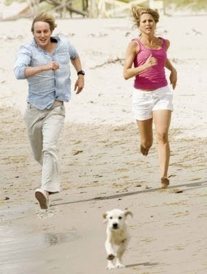Jennifer Aniston and Owen Wilson in Marley and Me