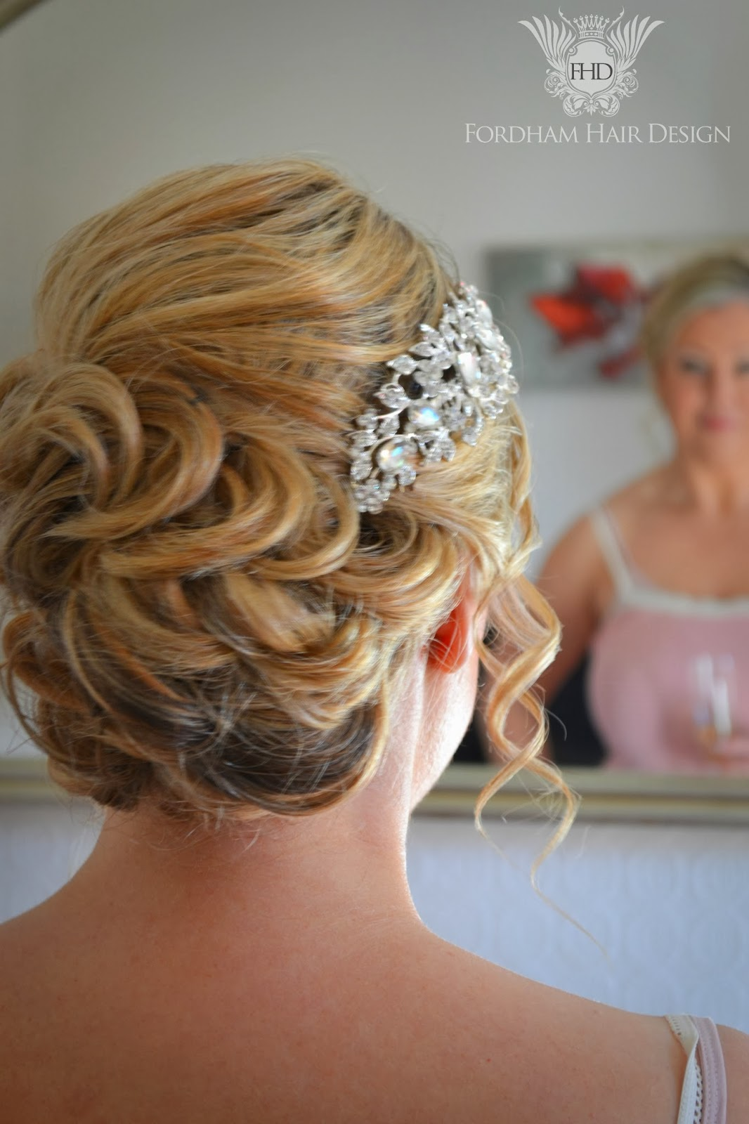 Wedding hair accessories gloucestershire - Fordham Hair Design Wedding Bridal Hair Specialist Wedding Hair Styling At The Kingscote Barn