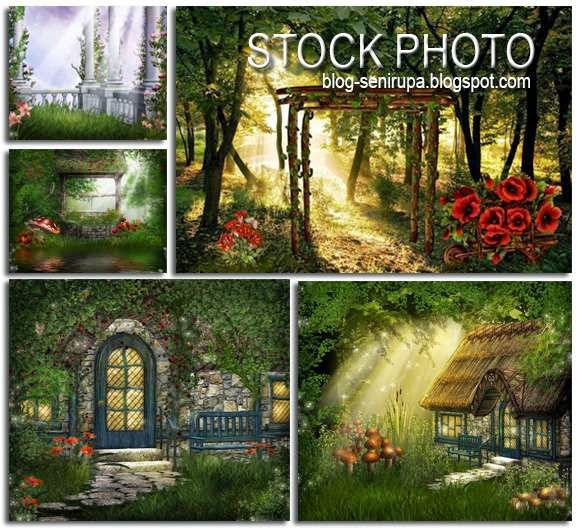 Fantasy Landscape Stock Photo High Resolution