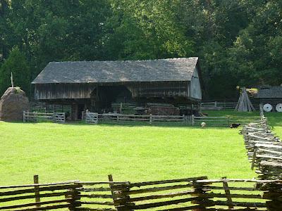 barn with sheep