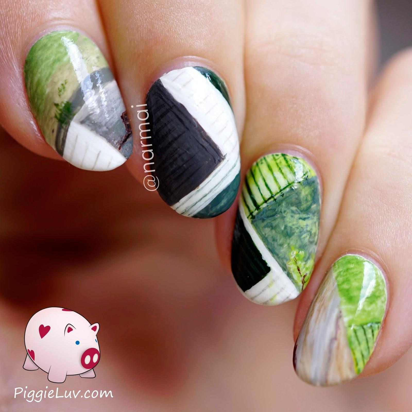 PiggieLuv: Extreme camouflage nail art