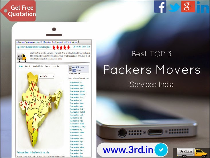 Best 3 - Packers and Movers India - Get Affordable Movers Packers in India at www.3rd.in