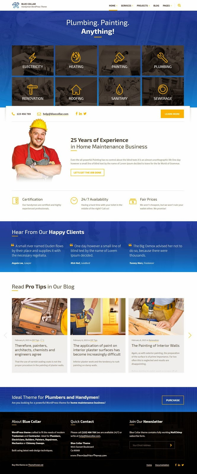 Best Handyman WordPress Theme