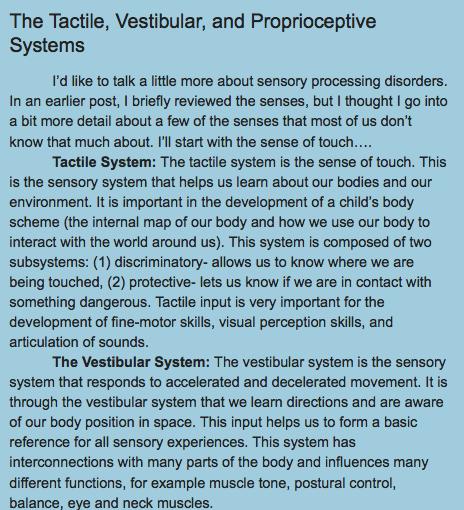 http://drzachryspedsottips.blogspot.com/2011/02/tactile-vestibular-and-proprioceptive.html