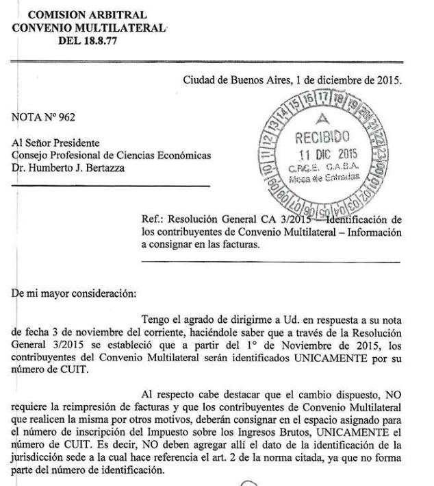 Convenio multilateral n mero a consignar en las facturas for Inscripcion ingresos brutos