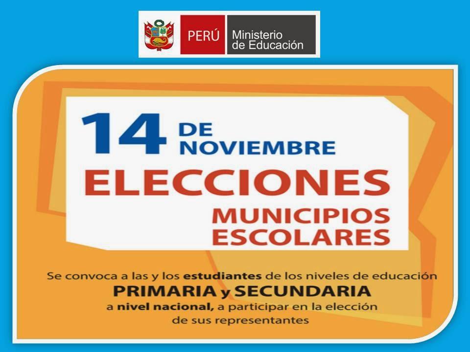 14N NOV ELECCIONES MUN ESCOLARES 2014