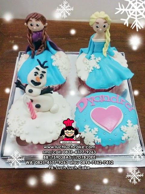 Cupcake Frozen Daerah Surabaya - Sidoarjo (REPEAT ORDER)
