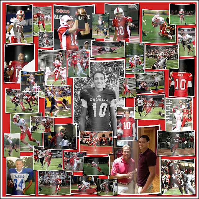Some random images of 2014 WR & Alabama commit Derek Kief's career at La Salle High School