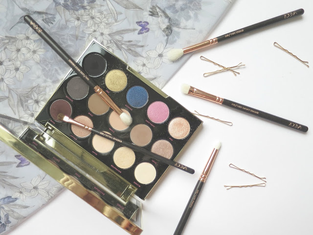 Perfect Brush and Beauty Matches zoeva rose gold urban decay gwen stefani eye shadow palette