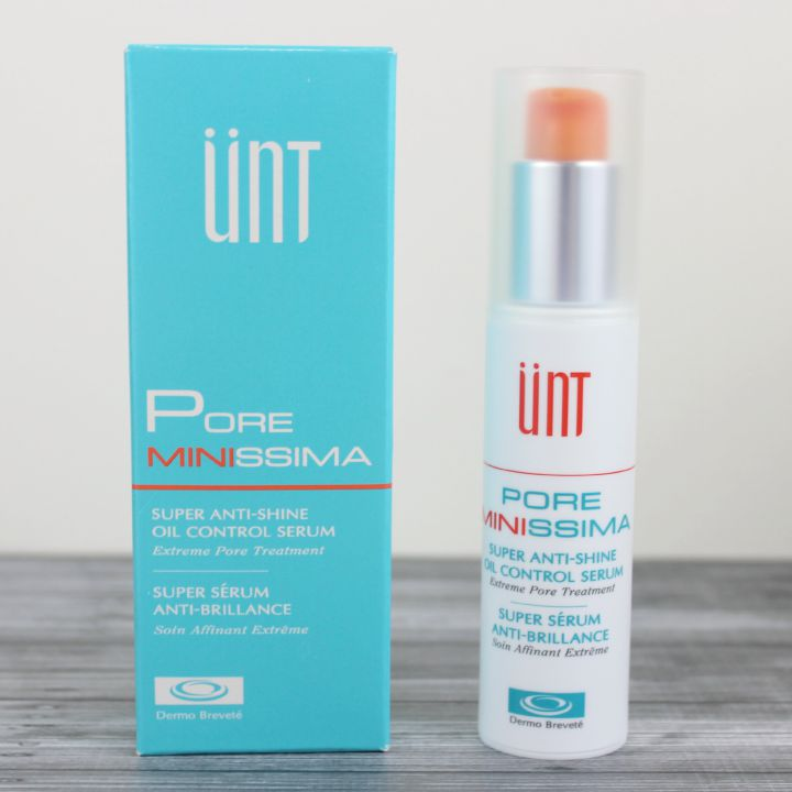 UNT Pore Minissima Super Anti Shine Oil Control Serum box and bottle