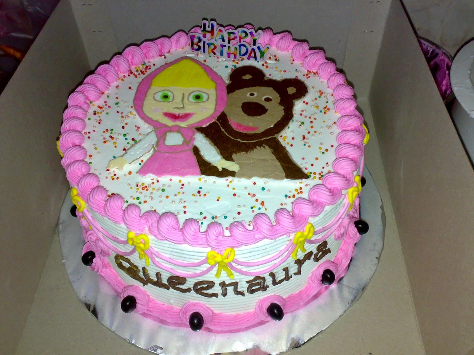 kue ulang tahun tema masha and beruang