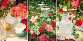 meja+pernikahan+warna warni Dekorasi meja pernikahan