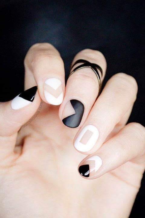 Black Nails Art Designs...