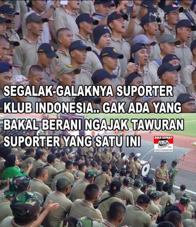 meme PS TNI tak ada lawan