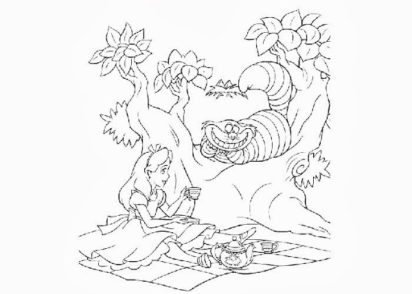 Alice In Wonderland Coloring Pages For Kids